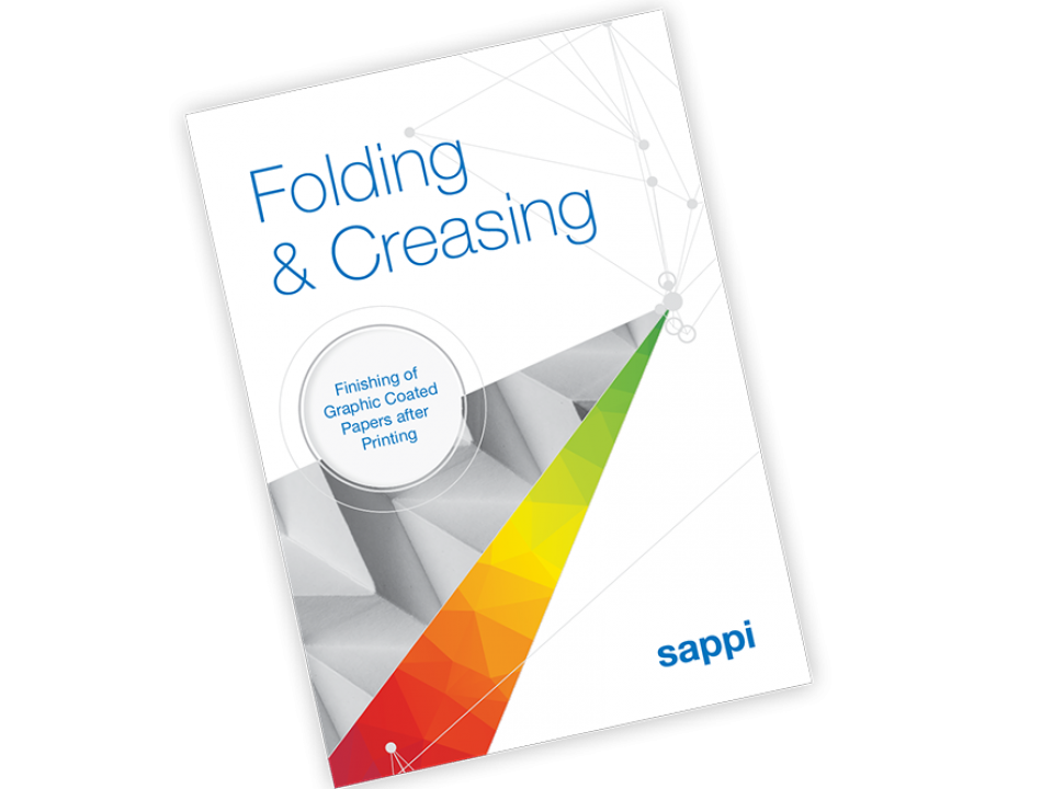 Folding and creasing technical brochure cover