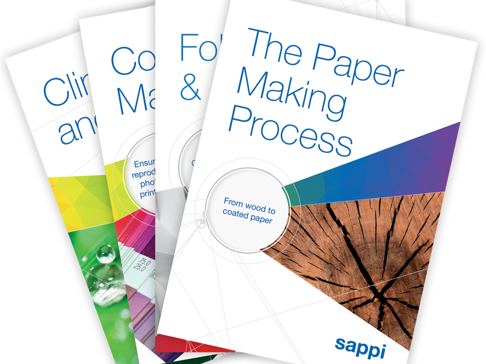 Sappi technical brochures covers